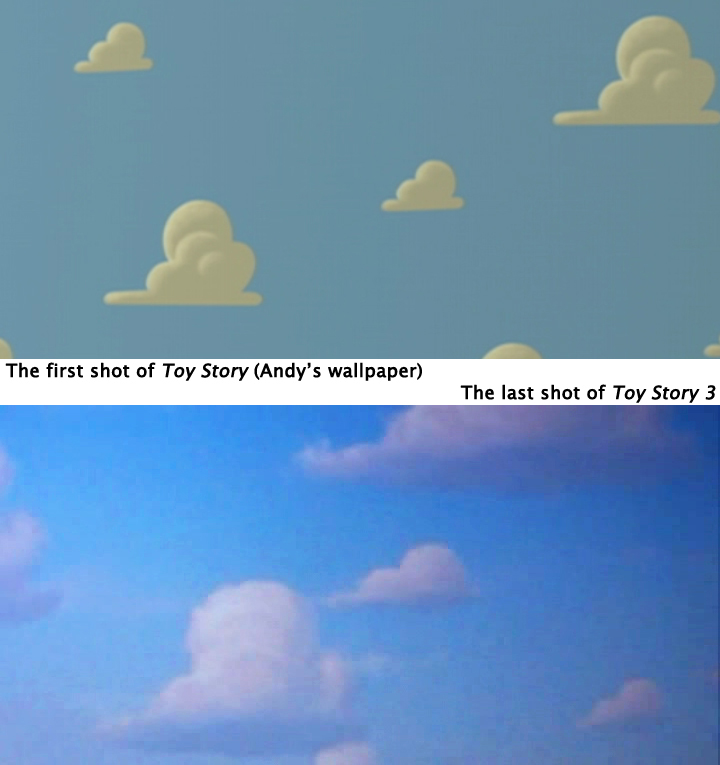 toy story clouds wallpaper toy story 39 s cloudy bookends